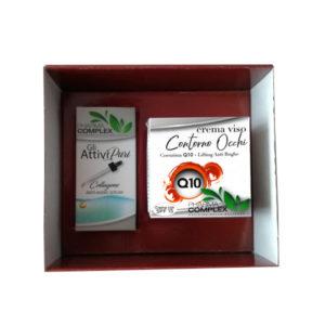 Подаръчен околоочен комплект за лице с Q10 крем + серум за лице